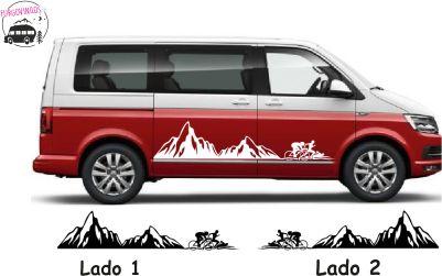 Franja Montañosa Con Ciclistas Triatlón