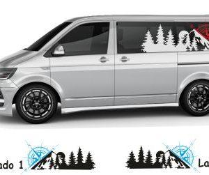 Windrosen Aufkleber Van